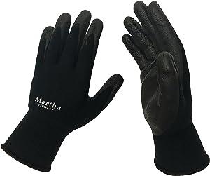 Martha Stewart MTS-GLVNP2-BK-S All-Purpose Non-Slip Garden Gloves, Small, Black, 2-Pack