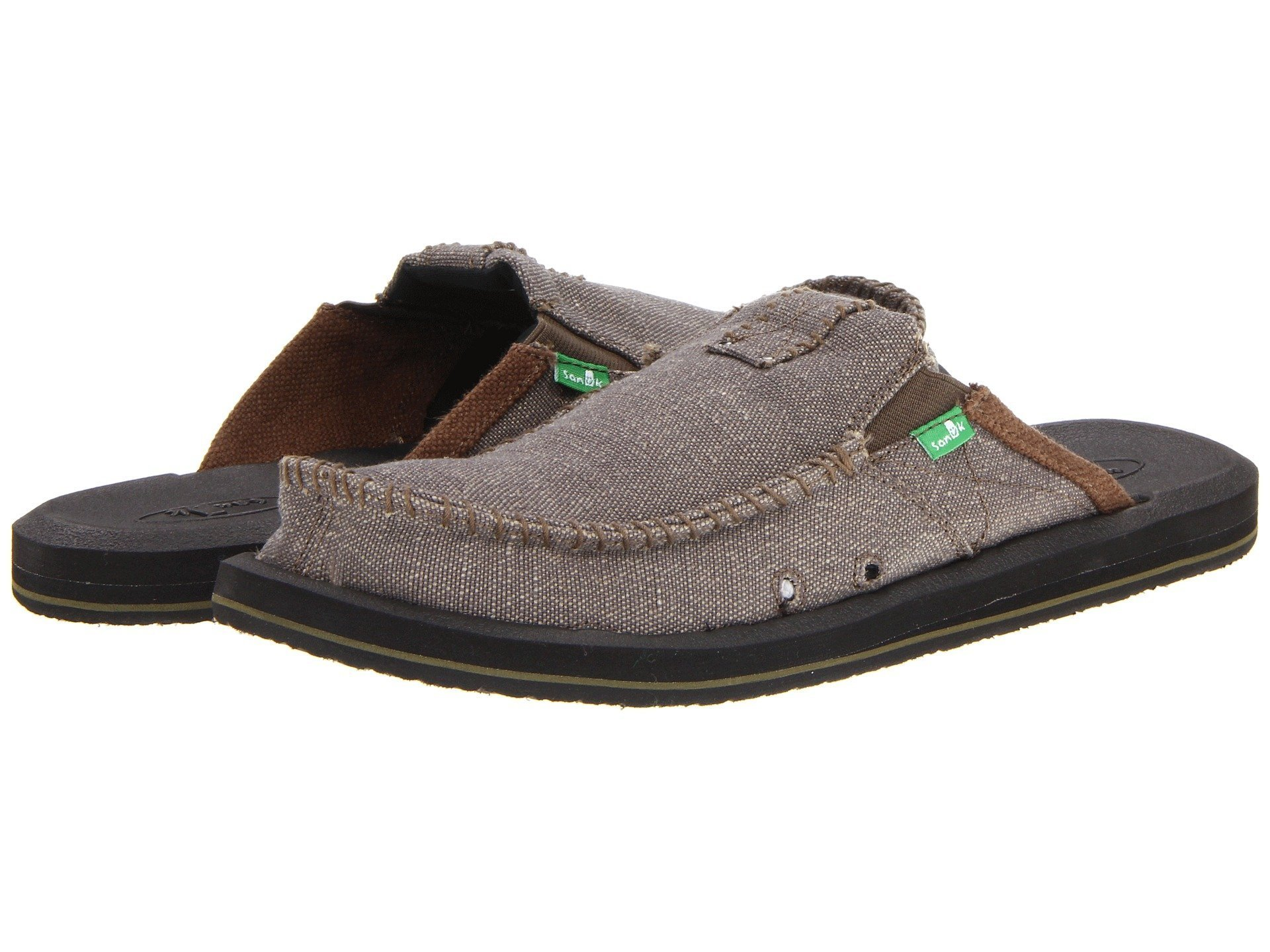 Sanuk Men's You Got My Back II Slip On, Army, 11 M US
