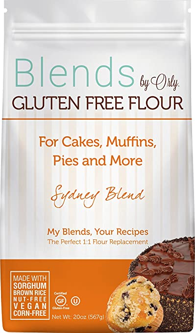 Blends By Orly Sydney Blend - Gluten-free Baking Flour for Cakes, Muffins, Brownies, and Pies, 20oz Bag