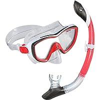 U.S. Divers 281014Máscara Diva II Isla seco Snorkel Combo