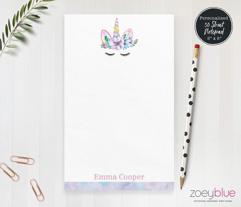 dd0c3d66d7d0a Amazon.com: Unicorn Notepad - Kids Personalized Notepad - Girls ...