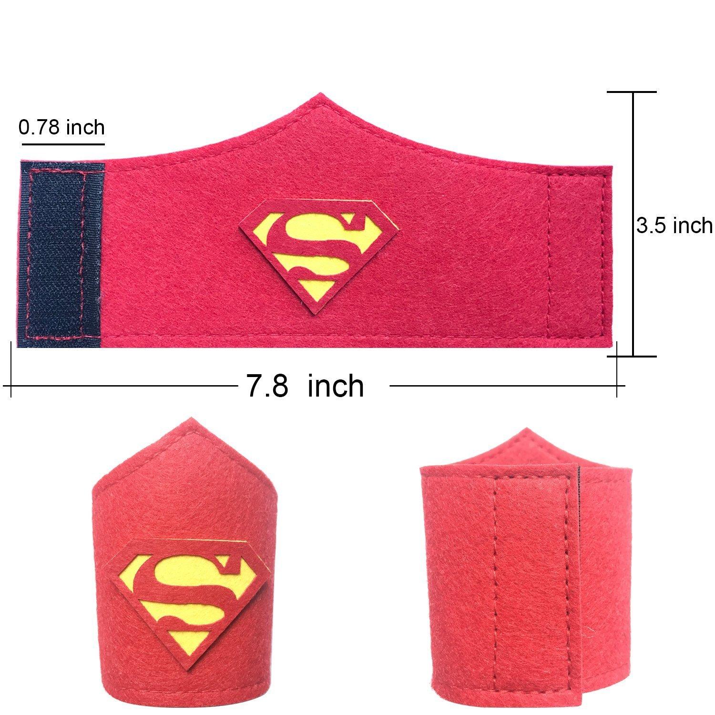 Pack de 36 pulseras de superhéroe para niños, niñas y niñas Fiesta de cumpleaños de superhéroe, suministros favores, brazalete de fieltro de ...