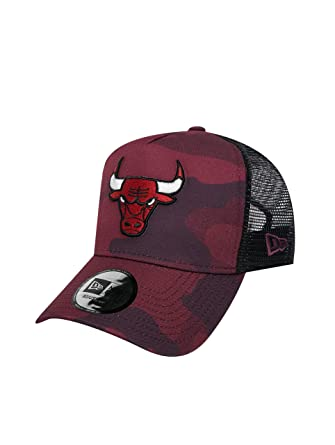 A NEW ERA Gorra Ajustable NBA Chicago Bulls Camo Color Trucker Granate/Negro/Multi Talla: Ajustable: Amazon.es: Ropa y accesorios