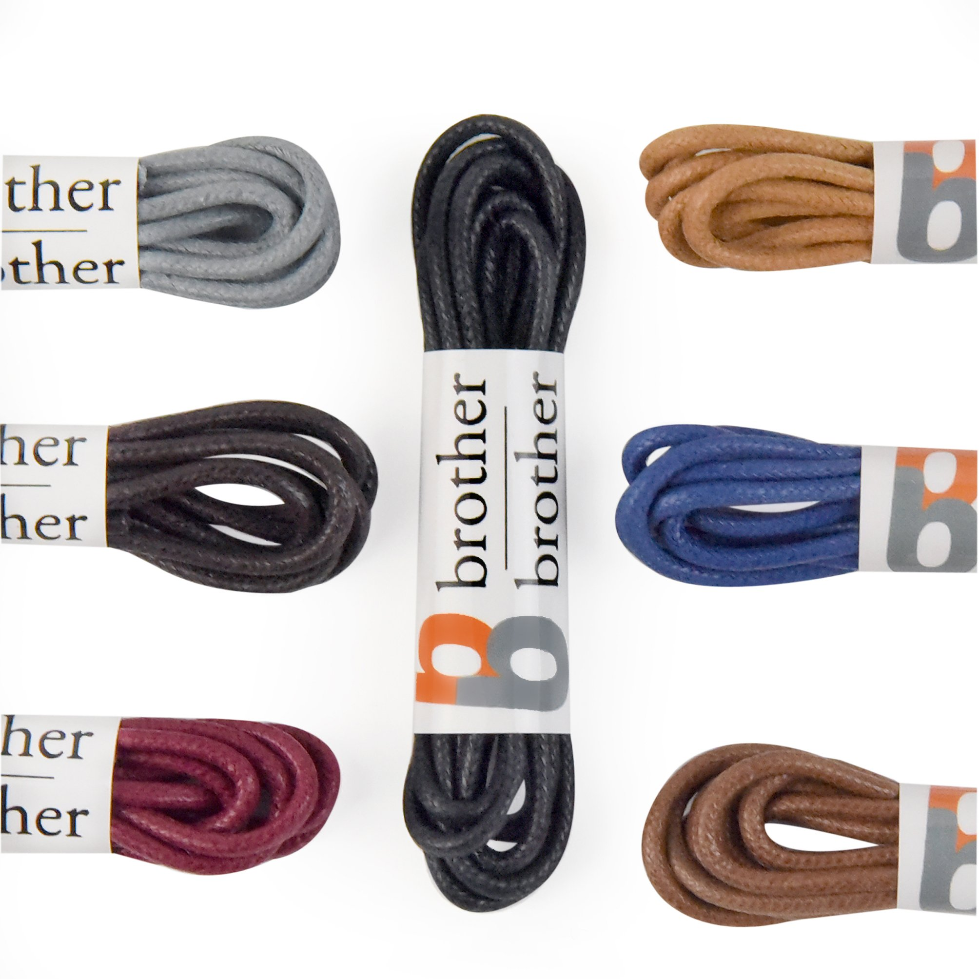 Brother Brother Colored Oxford Shoe Laces for Men (7 Pairs) (30'') by Brother Brother (Image #5)