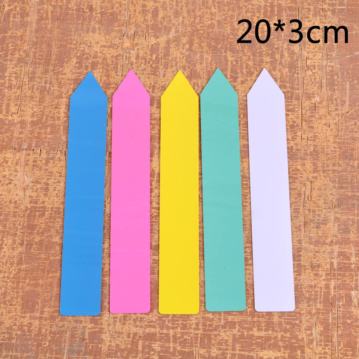 5-Color eZAKKA 500 Pieces Plant Label Plastic Garden Labels Markers Plant Name Tags 2.5x15cm Seed Nursery Garden Stake Gardening Accessories