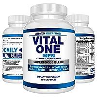 Vital ONE Multivitamin for Men – Daily Wholefood Supplement - 150 Vegan Capsules...