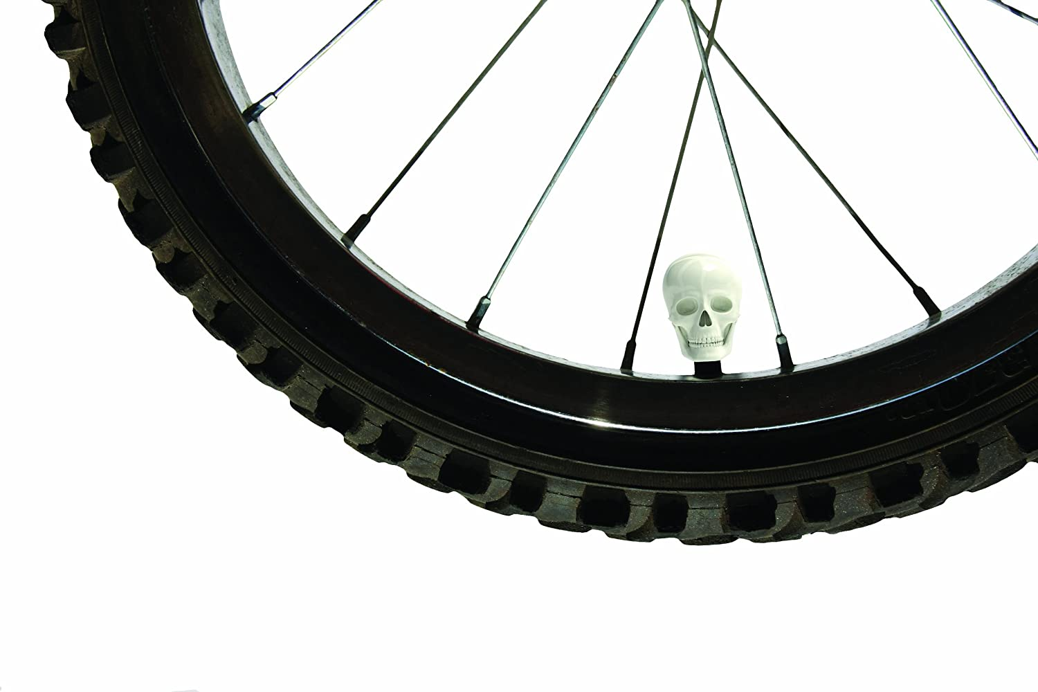 Skull Caps Decorative Bike Valve Caps Luckies LUKSKUL