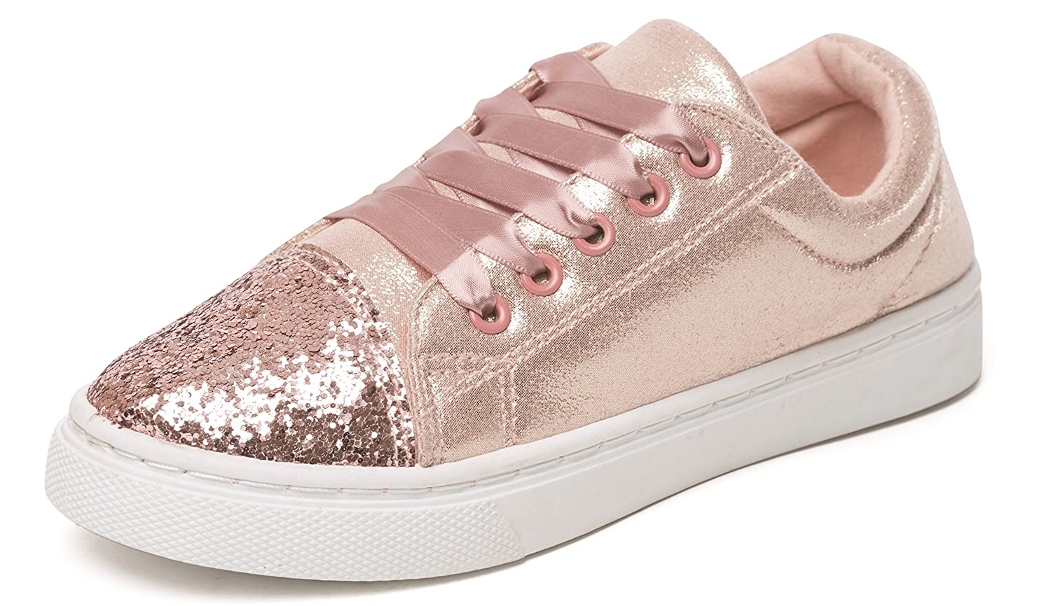 e8b288f7038c Chatterbox Girls Glitter Lace Up Trainers Pumps Silver Rose Gold UK Sizes  Child 10 11 12 13 1 2: Amazon.co.uk: Shoes & Bags