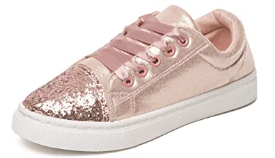 baf04d08a31b Chatterbox Girls Glitter Lace Up Trainers Pumps Silver Rose Gold UK Sizes  Child 10 11 12 13 1 2: Amazon.co.uk: Shoes & Bags