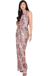 07d30baa00ea KOH KOH Womens Long Sleeveless Sexy Summer Boho Bohemian Sundress Maxi Dress
