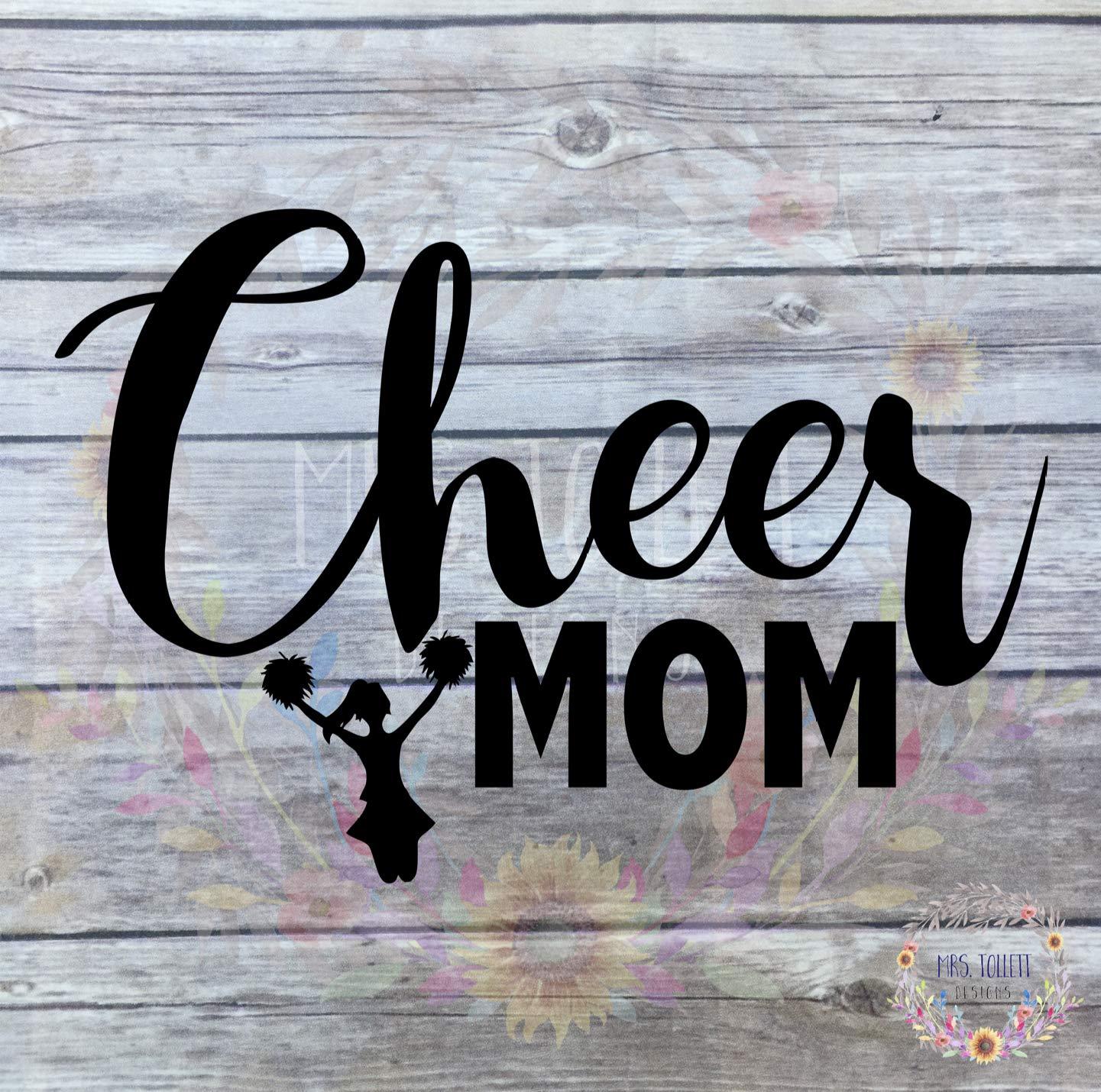 Cheerleader Mom Car Sticker 7x4.5 ORIGINAL Cheer Mom Decal Color Options