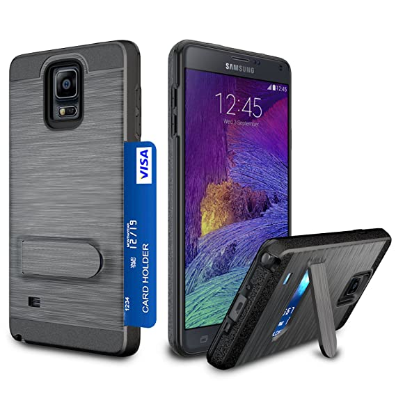 more photos 71aab 21673 Galaxy Note 4 Case, Zectoo Galaxy Note 4 Wallet case Heavy Duty [Card  Pocket] Anti Scratch Dual Layer Kickstand Shockproof Bumper Protective  Hybrid ...