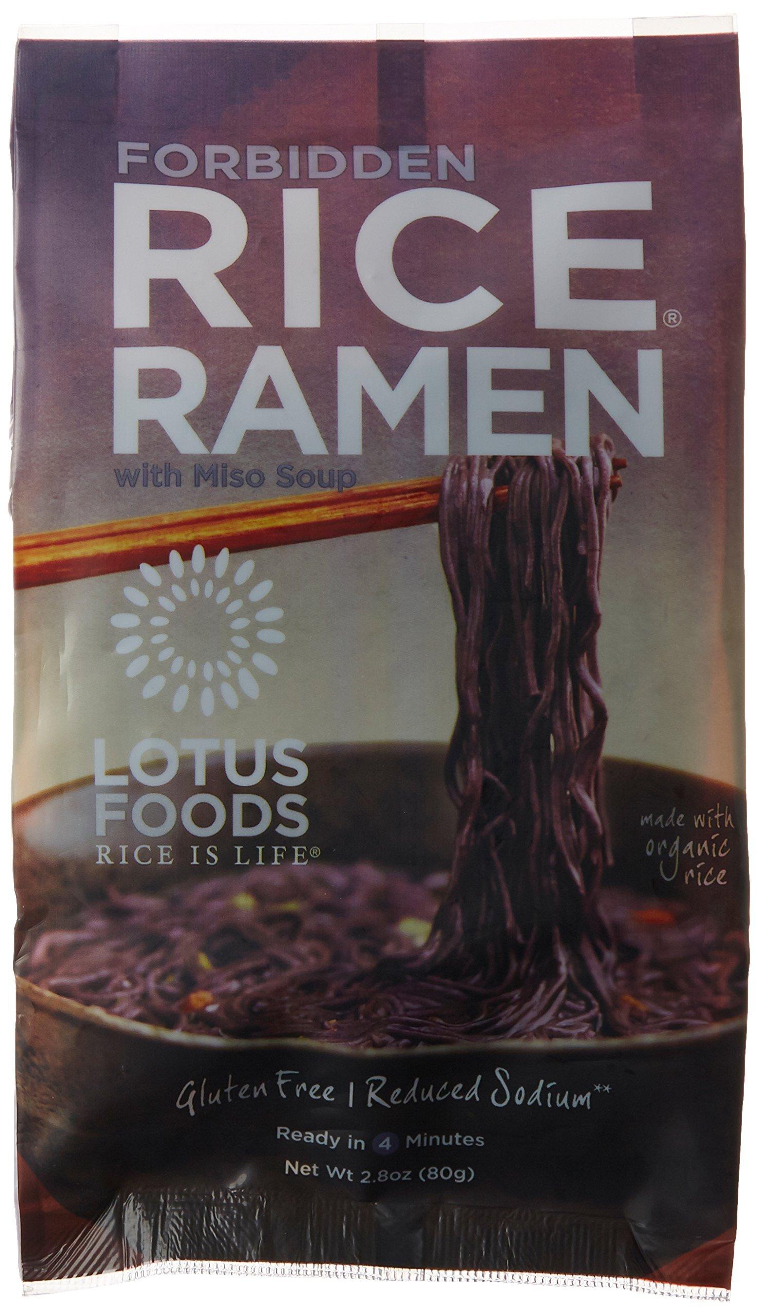 Lotus Foods Forbidden Rice Ramen with Miso Soup, 2.8 oz