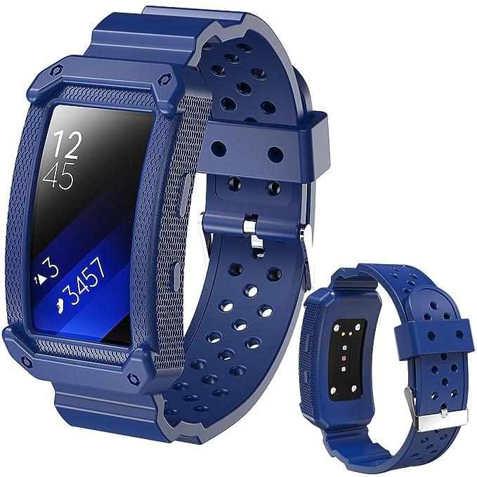 X4-Tech - Correa de Silicona Compatible con Reloj Gear Fit2 de ...