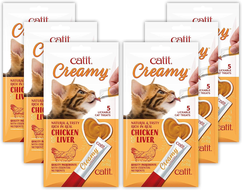 CatitCreamy,LickableCat Treat, Chicken & Liver, 30 Pack, 44471P1