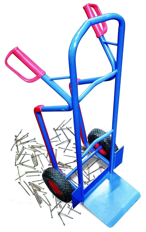 Stahlrohrkarre mit pannensicheren Rädern, Tragkraft 250 kg