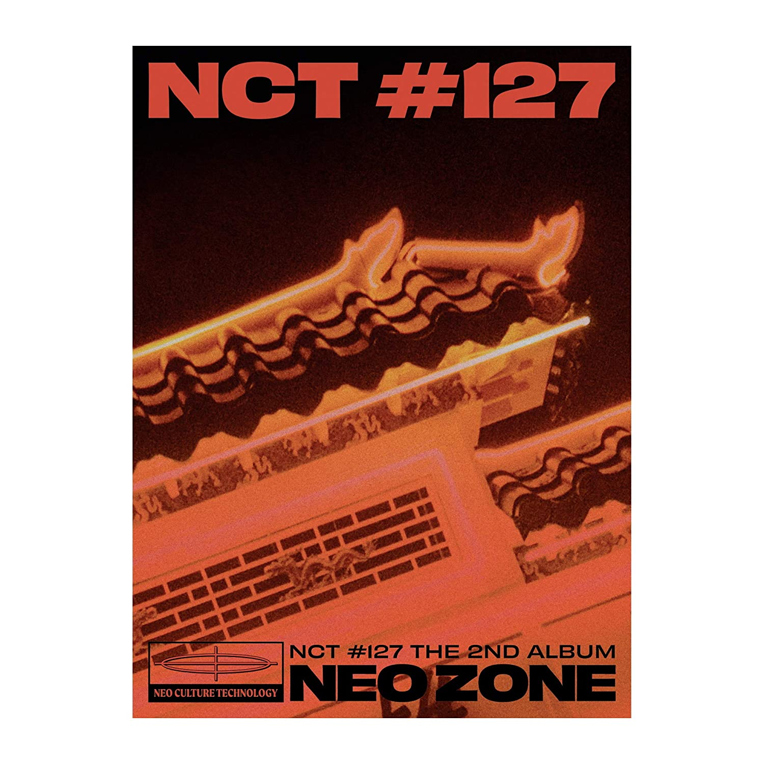 NCT 127 NCT #127 Neo Zone 2nd Album T Ver CD+1p Folding Poster On+160p PhotoBook+1p Lenticular Card+1p Sticker+Mini Sticker+1p PhotoCard+1p Circle Card+Message PhotoCard SET+Tracking Kpop Sealed