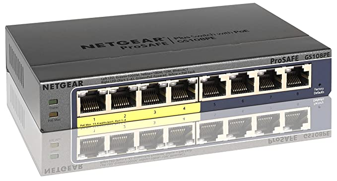 Nice image showing NETGEAR GS108PE-300NAS