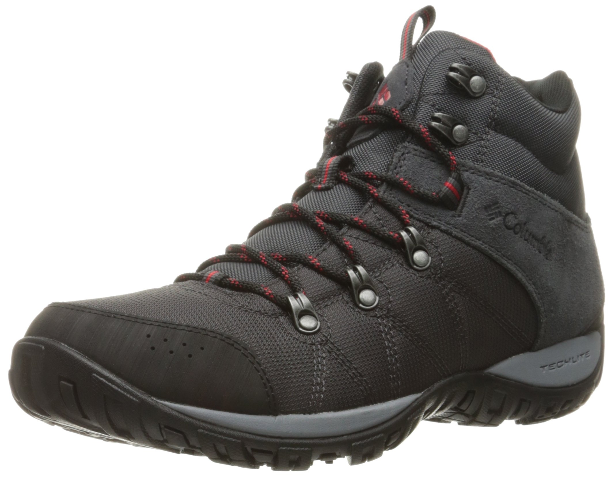 Columbia Men's Peakfreak Venture Mid LT Hiking Boot, Shark, Mountain Red, 8.5 Regular US by Columbia