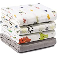 Momcozy Baby Swaddle Blanket, Unisex Neutral Receiving Blankets Soft Silky Bamboo Muslin Swaddle Wrap for Boys and Girls…