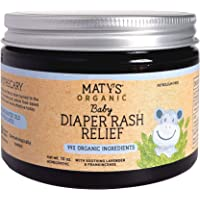 Maty's Baby Diaper Rash Relief - Made With 99% Organic Ingredients. Made with Lavender, Aloe, Zinc - 10 oz.