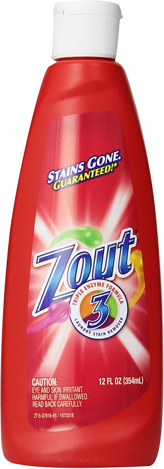 Zout Triple Enzyme Formula Laundry Stain Remover, 12 Ounce