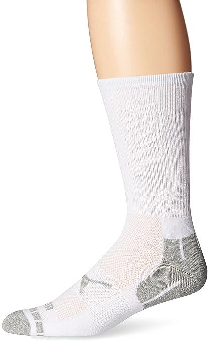 29ad82f7ab1d Amazon.com  PUMA Crew Socks for Men - 6 Pairs - (White) Cotton ...