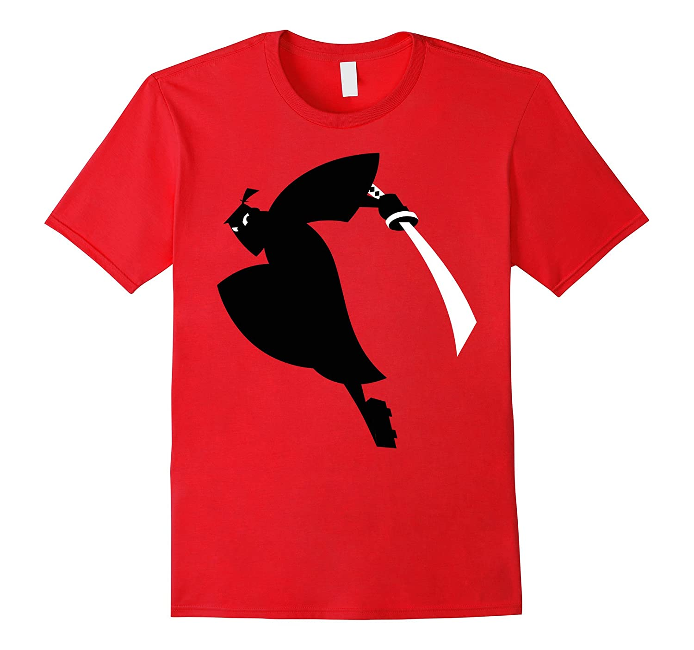 CN Samurai Jack Leaping Sword Silhouette Graphic T-Shirt-Art