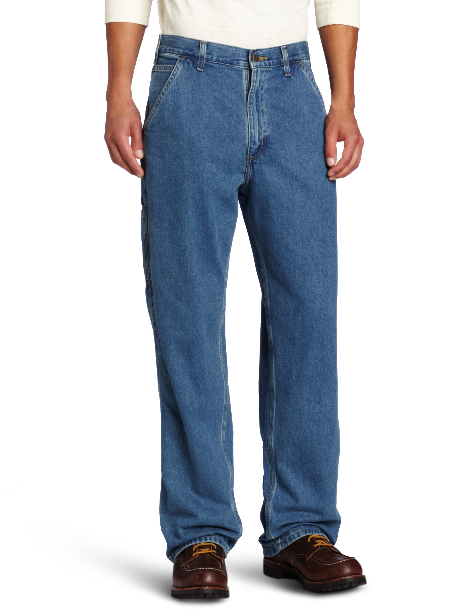 Carhartt Men's Washed Denim Original Fit Work Dungaree B13,Stonewash,44 x 30