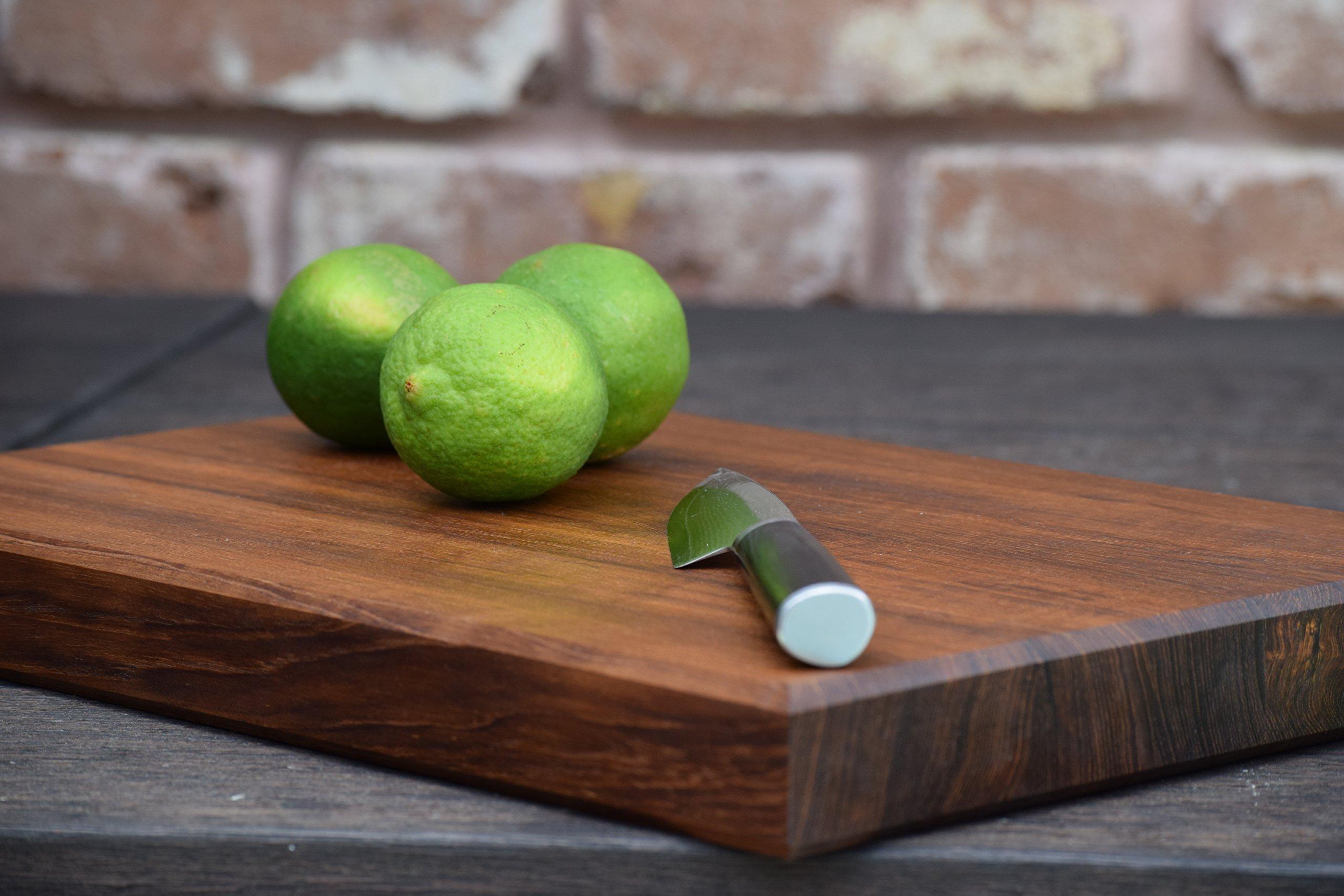 Teak Wood Edge Grain Cutting Board Handmade Reversible Butcher Block by The Practical Plankist (Image #5)