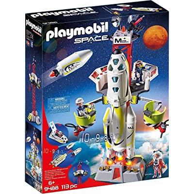 PLAYMOBIL Mission Rocket with Launch Site: Toys & Games