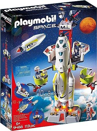 Diversión para los pequeños astronautas: PLAYMOBIL Space Cohete con Plataforma de Lanzamiento, figur