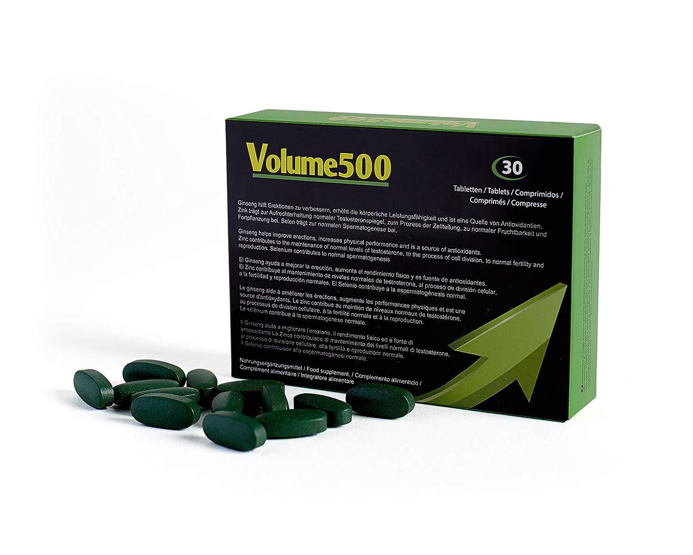Aumento de esperma - Volume500: Pastillas para aumentar la cantidad de esperma