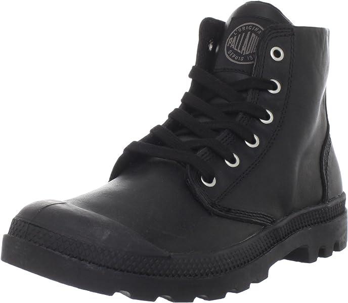 ecd288b60b9 Amazon.com: Palladium Men's Pampa Hi Leather Boot,Black,7.5 M US: Shoes