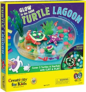 Creativity for Kids Create with Clay Turtle Lagoon – Marine Biology Crafts for Kids - Build a Sea Turtle Habitat with Clay, Multi(6238000)