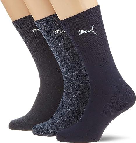 Calcetines deportivos unisex de Puma, pack de 3 Azul azul: Amazon.es: Deportes y aire libre