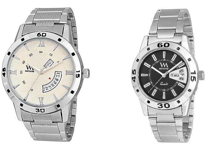 Watch Me Stylish Wrist Watch GIF Set Combo for Couple Men and Women DDWM-040-DDWM-009-BK Watch for Mens Under 500 ; Watches for Mens Stylish ; Watch for Men Stylish Latest