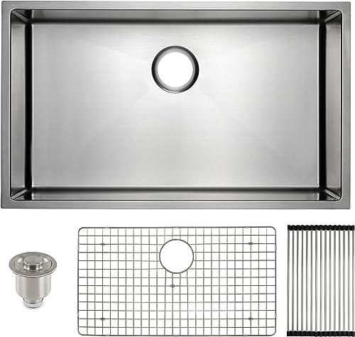 Frigidaire Undermount Stainless Steel Kitchen Sink, 10mm Radius Corners, 16 Gauge, Deep Basin, 32