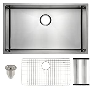Frigidaire Undermount Stainless Steel Kitchen Sink, 10mm Radius Corners, 16 Gauge, Deep Basin, 32""