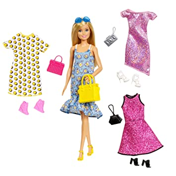 new images of cheap prices offer discounts Barbie Fashionistas Coffret poupée blonde et ses tenues ...
