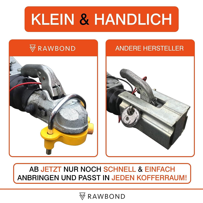 Praktisches Anh/änger Schloss f/ür maximale Sicherheit RAWBOND/® Anh/ängerschloss