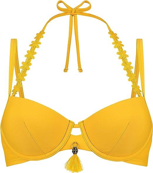 HUNKEM/ÖLLER Damen Nicht-vorgeformtes B/ügel-Bikini-Oberteil Palm Springs
