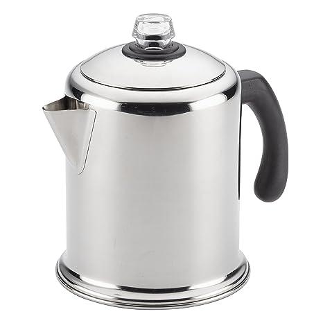 Amazon Farberware Classic Stainless Steel Yosemite 8 Cup Coffee Percolator Kitchen Dining