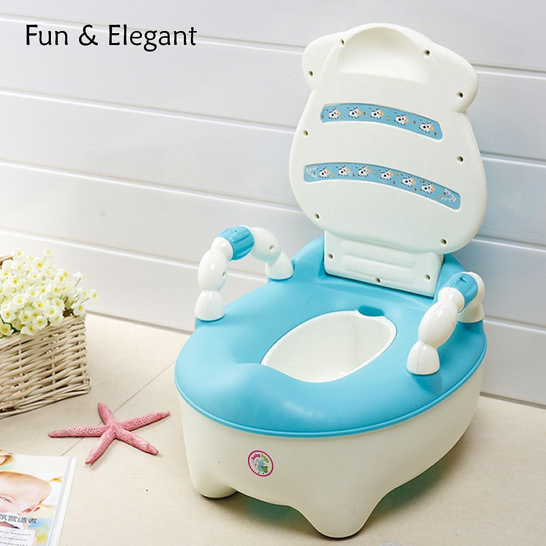 /Bleu Babyhugs/©/ r/éducteur de toilette avec marchepied antid/érapants et protection anti-/éclaboussure/ /Pot pour b/éb/é 3/en 1/Motif canard