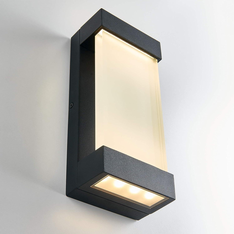 Artika Glacier Wall-Mounted LED Light Fixture Indoor//Outdoor 650 Lumens New open