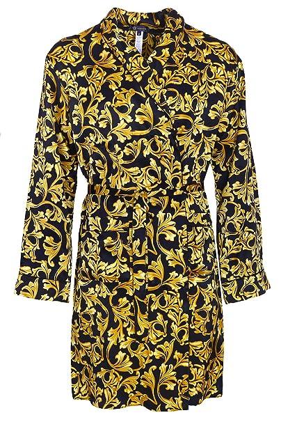 design di qualità 8aac3 adbb8 Versace - Vestaglia - uomo nero/oro X-Large: Amazon.it ...