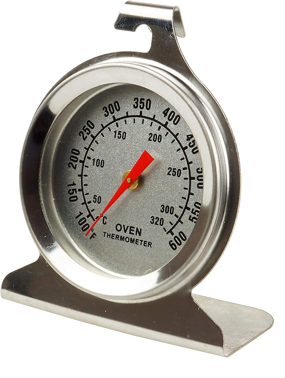 RenGard Oven/Grill/Smoker Thermometer Stainless Steel Instant Read Monitoring (Stainless Steel)