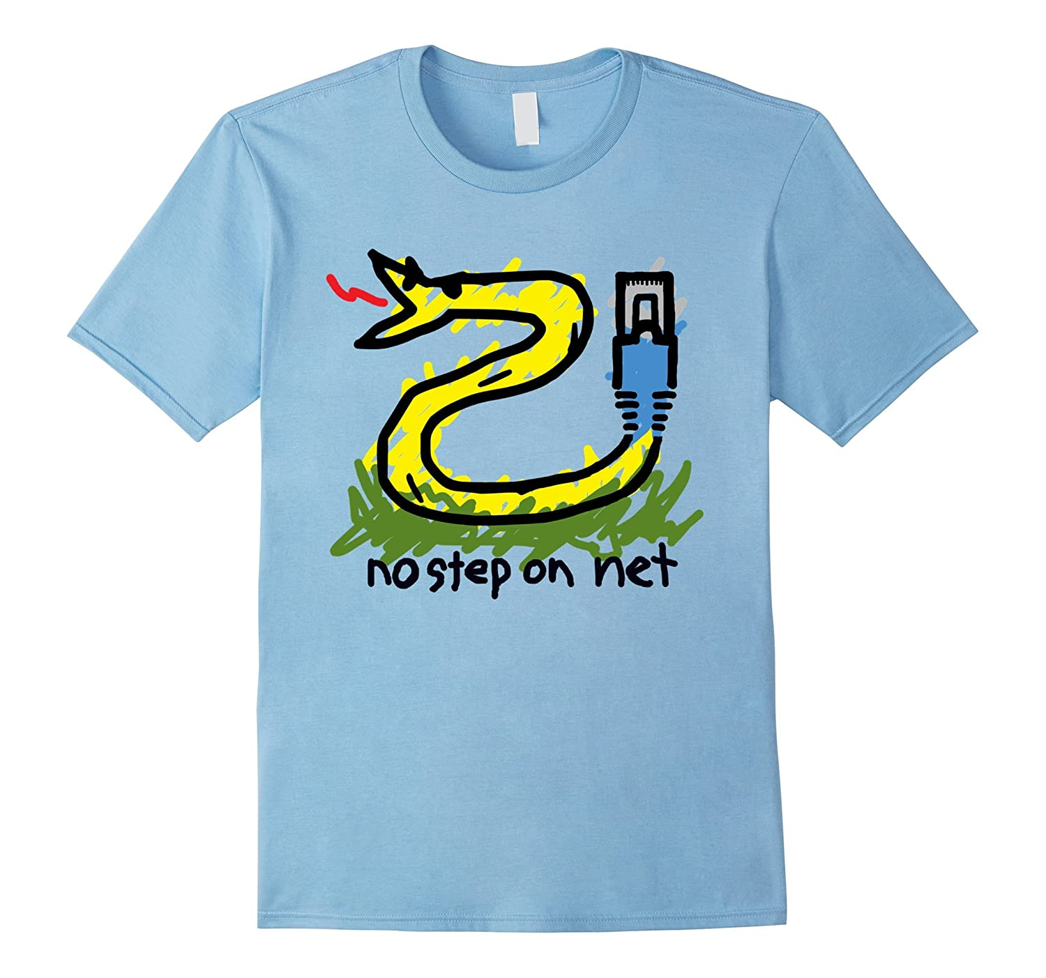 Net Neutrality Shirts: No Step on Net t-shirt (Colored)-TH