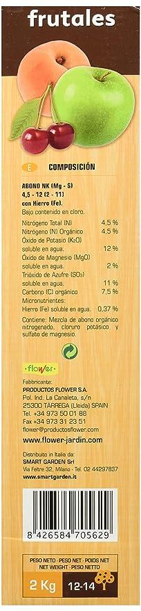 Flower 70562 70562-Abono orgánico frutales, 2 kg, No Aplica, 20.4x7.5x31 cm: Amazon.es: Jardín
