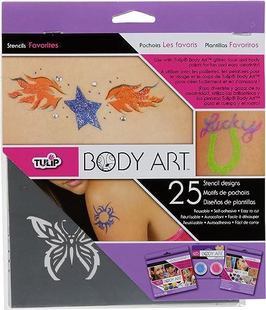 Amazon Com Tulip Body Art Stencil Designs Favorits